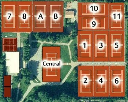 plan courts de tennis TC Villers sur Mer